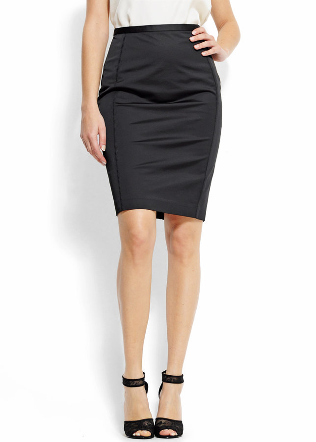 Pencil skirt with a high-waist