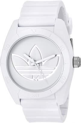 adidas Men's 'Santiago' Quartz Rubber and Silicone Casual Watch, Color: