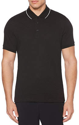 Perry Ellis Three-Button Short-Sleeve Polo