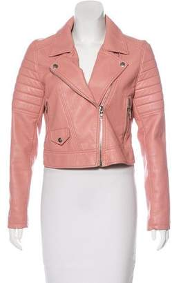 Blank NYC Faux Leather Asymmetrical Jacket