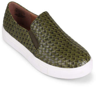 Wanted Slip On Sneaker With Woven Upper Women Shoes