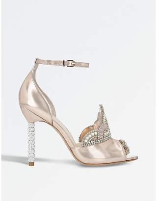 Sophia Webster Royalty metallic leather sandals