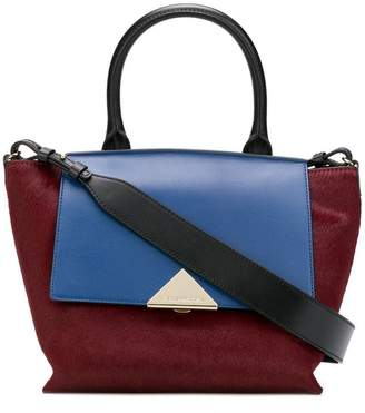 Emporio Armani colour block tote bag
