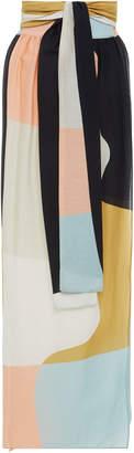 Cora Wraparound Linen Skirt