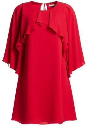 Halston Drape Overlay Shift Dress