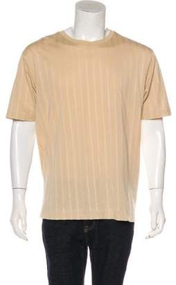 Salvatore Ferragamo Striped Piqué T-Shirt