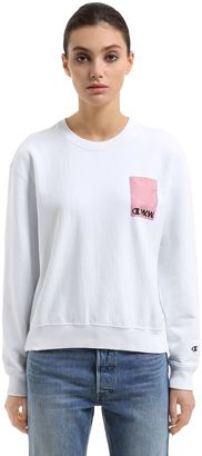 Wood Wood Cotton Terry Sweatshirt $161 thestylecure.com