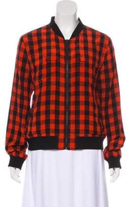 Equipment Plaid Zip-Up Jacket
