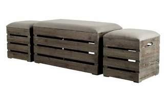 Gracie Oaks Admiranda 3 Piece Upholstered Storage Bench Gracie Oaks