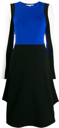 Stella McCartney colour-block long-sleeved dress