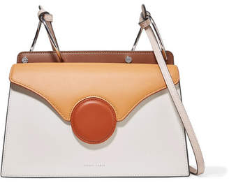 Lente Danse Phoebe Color Block Leather Shoulder Bag Camel