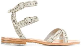 Fiorentini+Baker double strap studded sandals
