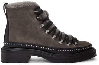 Rag & Bone Grey Suede Compass Boots