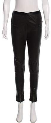 Tom Ford Leather Mid-Rise Leggings