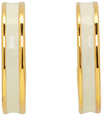 Isabel Marant Gold and White Casablanca Loop Earrings