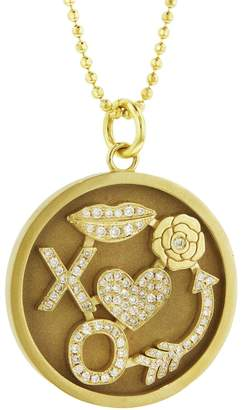 Jennifer Meyer Diamond Lucky In Love Necklace - Yellow Gold