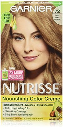 Garnier Nutrisse Nourishing Color Creme, 72 Dark Beige Blonde (Sweet Latte) (Packaging May Vary) $8.22 thestylecure.com