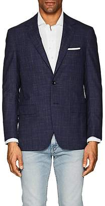 Sartorio Men's PG Checked Wool-Blend Two-Button Sportcoat - Navy