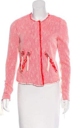 Rebecca Taylor Tweed Zip-Up Jacket