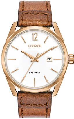DRIVE FROM CITIZEN ECO-DRIVE Drive from Citizen Mens Brown Strap Watch-Bm7413-02a