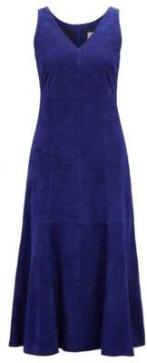 BOSS Hugo Sleeveless dress in lightweight lamb suede 6 Open Purple