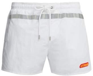 Heron Preston Reflective Stripe Swim Shorts - Mens - White