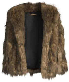 Michael Kors Faux-Fur Capelet Jacket