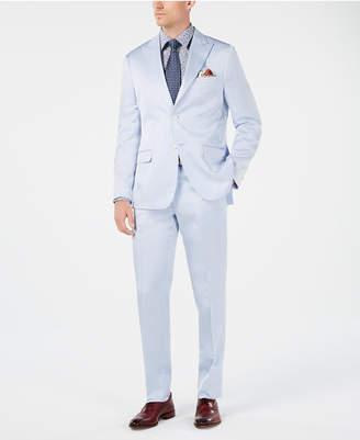 Tallia Men Slim-Fit Light Blue Sateen Suit