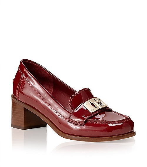 Tory Burch Patent Leather Mid Heel Mona Loafer