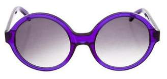 Illesteva Gradient Round Sunglasses