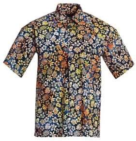 Saks Fifth Avenue COLLECTION Cotton Hawaiian Shirt