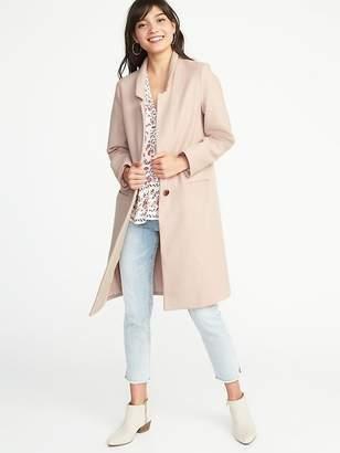 Old Navy Long Brushed Flannel Coat for Women