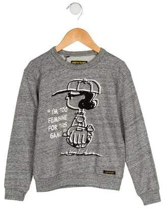 Finger In The Nose Girls' Printed Pullover Sweatshirt w/ Tags