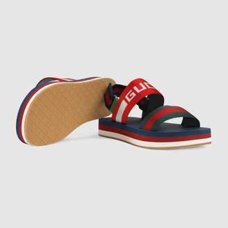 Gucci stripe strap sandal