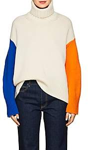 TOMORROWLAND Women's Colorblocked Wool Turtleneck Sweater