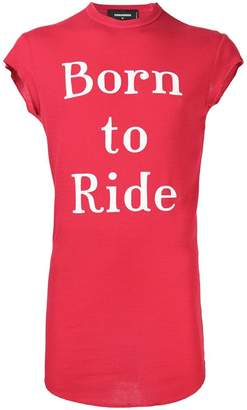 DSQUARED2 Born to Ride tank top