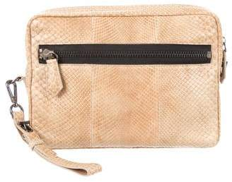 Reed Krakoff Snakeskin Travel Bag