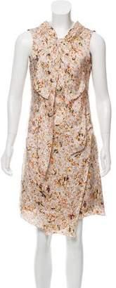 Nina Ricci Silk Floral Dress