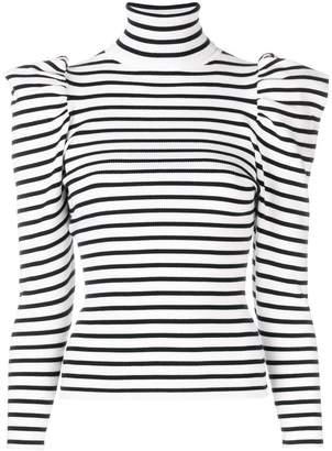 A.L.C. striped puff shoulder sweater