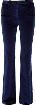 Altuzarra Serge Cotton-blend Velvet Flared Pants - Midnight blue