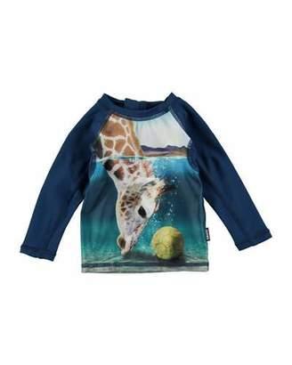 Molo Nemo Giraffe Long-Sleeve Rash Guard, Size 3-24 Months