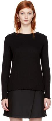 A.P.C. Black Long Sleeve Lara T-Shirt