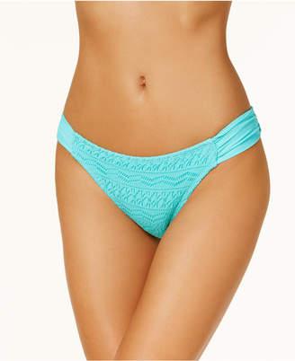 Hula Honey Juniors' Little Wild One Crochet Tab-Side Hipster Bikini Bottoms, Created for Macy's Women's Swimsuit