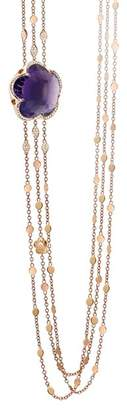 Pasquale Bruni 18K Rose Gold Bon Ton Amethyst & Diamond Multi Strand Necklace, 40.5""