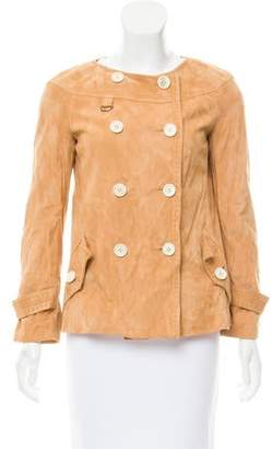 Tod's Suede Double-Breasted Jacket