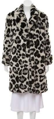 MICHAEL Michael Kors Animal Print Faux Fur Coat
