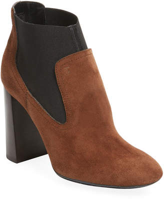 Tod's Suede Ankle Bootie