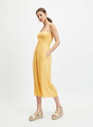 1247f9e80d2 Miss Selfridge Yellow Shirred Bandeau Jumpsuit