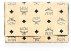 MCM Leather Snap-Button Continental Wallet