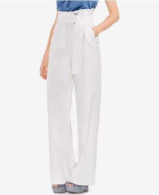 Vince Camuto Wide-Leg Paper-Bag Pants